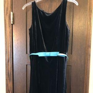 Laura Ashley Blue Velvet Dress